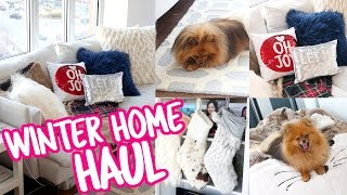 Winter Decor HAUL + Living Room Makeover for Christmas!! | pankobunny