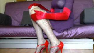 High Heels, Fishnet Stockings, Opera Long Gloves