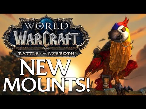The Many New Mounts of Battle for Azeroth (so far) | World of Warcraft (видео)
