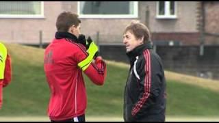 Kenny Dalgishs erster Trainingseinheit bei Liverpool