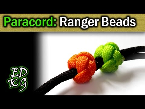 Simple Paracord: Ranger Beads (using Celtic Button Knot)