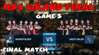 Nonton I DONT SLEEP VS SALTY SALAD (GAME 3) | FINAL MATCH | MSC GRAND FINAL 2017 Film Subtitle Indonesia Streaming Movie Download