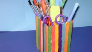 How to make a colorful pencil holder with recycled materials