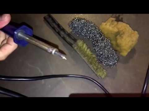 Lötkolben reinigen oxidierte Lötspitze reaktivieren Lötspitze entrosten Anleitung