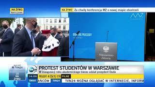 Andrzej Duda wygwizdany przez studentów na Uniwersytecie Warszawskim.