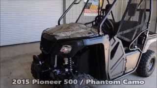 6. 2015 Honda SXS500 Pioneer Camo For Sale / Specs - Walk Around Video - Chattanooga TN