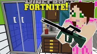 Minecraft: GIANT BATHROOM - FORTNITE BATTLE ROYALE - Modded Mini-Game