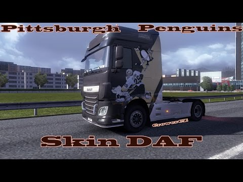 Pittsburgh penguins DAF XF EURO 6 skin 1.15