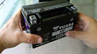 9. Yuasa battery for Hyosung GV250. Some points to consider.