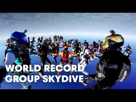 World Record Group Skydive 164Person Formation