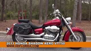 1. Used 2011 Honda Shadow Aero VT750 Motorcycles for sale in Tallahassee Fl