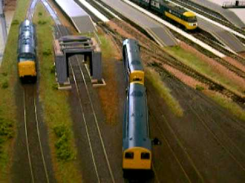 Bachmann and Hornby model trains