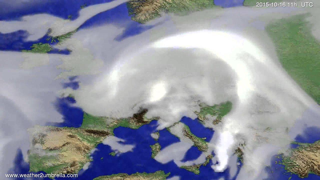 Cloud forecast Europe 2015-10-13