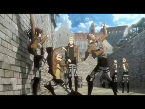 Jean vs connie and sahsa   Attack on titan OVA clip