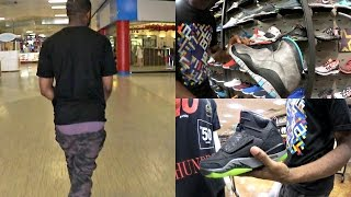 THE HOODIEST MALL EVER! Sagging In Public! FIRE RETRO PICK UP! SneakerHead Vlog Ep.7