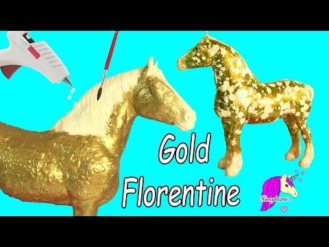 How To Make Custom Breyer Gold Florentine Horse | Do It Yourself Melting Wax + Painting Craft Video