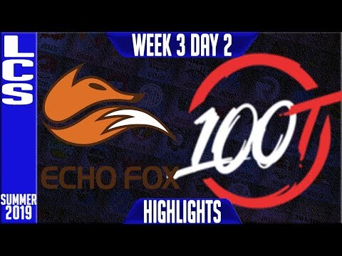 FOX Vs 100 Highlights | LCS Summer 2019 Week 3 Day 2 | Echo Fox  Vs 100 Thieves