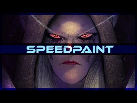 Sylvana Windrunner Warcraft Speedpaint on PSD - Thời lượng: 10 phút.