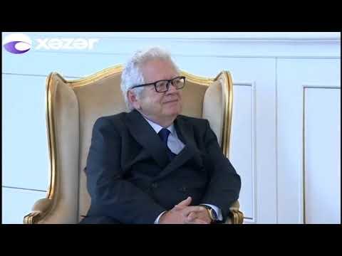 Azərbaycan prezidenti Yunanıstanın yeni səfirinin etimadnaməsini qəbul edib (видео)