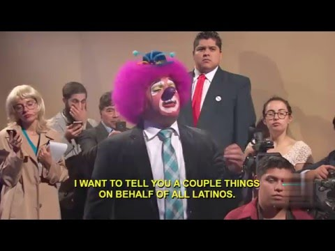 Trump Heckled By Mexican Clown
