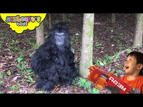 ANGRY GORILLA NERF War in Forest (Part 2) | Skyheart's Toys Gorilla Series King Kong Battle Monkey
