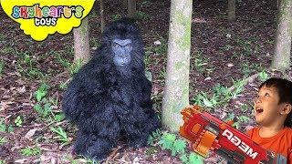 Video ANGRY GORILLA NERF War in Forest (Part 2) | Skyheart's Toys Gorilla Series King Kong Battle Monkey MP3, 3GP, MP4, WEBM, AVI, FLV Desember 2018