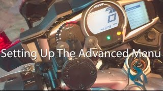 10. How To Setup The Yamaha FJR1300 FJ09 Super Tenere Advanced Dash Menu