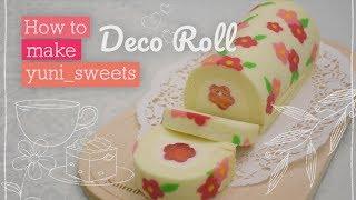 Video How to make floral design Rollcake! | yunisweets Deco Roll MP3, 3GP, MP4, WEBM, AVI, FLV September 2018