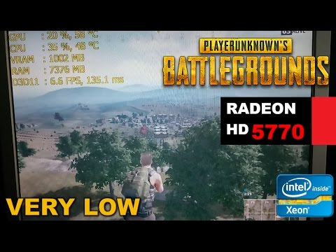 , title : 'HD 5770 1GB   Playerunknown's BATTLEGROUNDS - Very Low Settings'