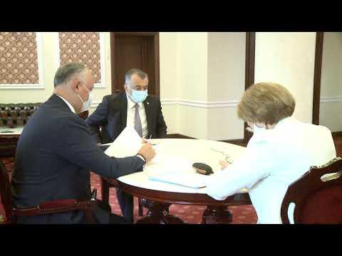 Глава государства, спикер и премьер приняли участие в еженедельном совещании