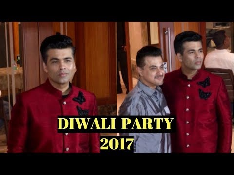 Karan Johar & Sanjay Kapoor At Sanjay Dutt's  Diwali Party 2017