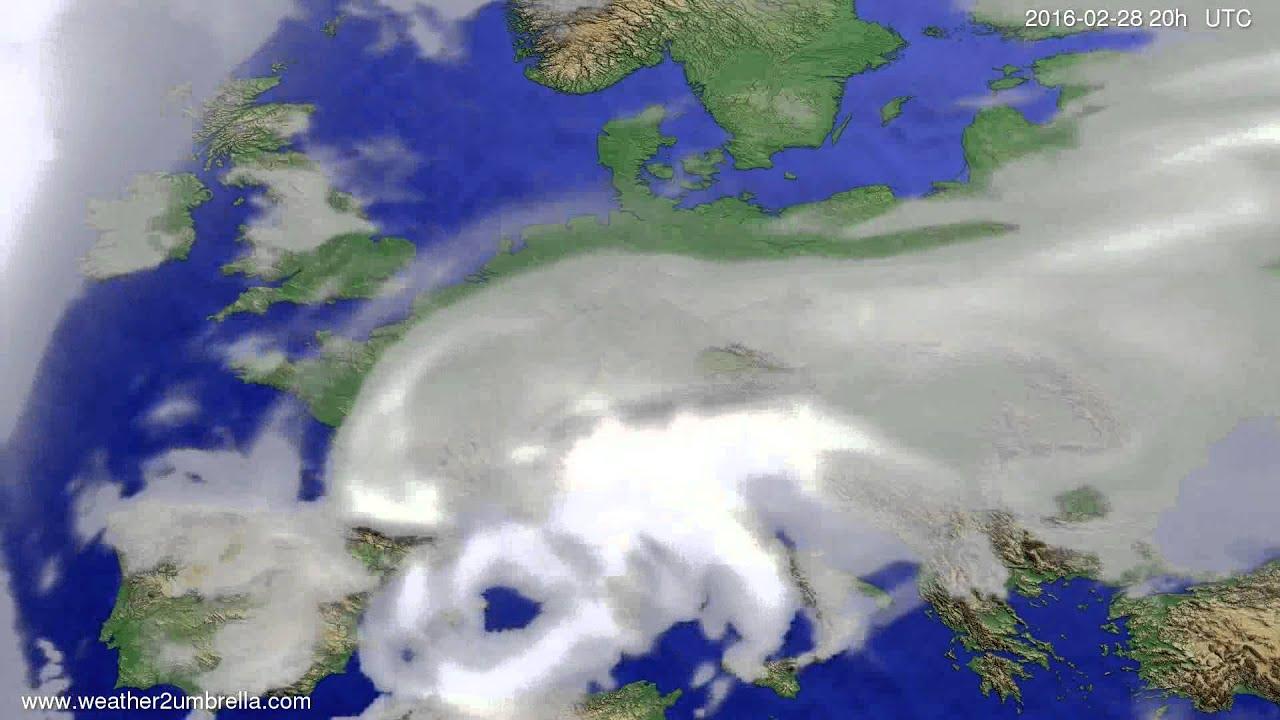 Cloud forecast Europe 2016-02-26
