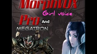 How to make a female voice with MorphVOX Pro