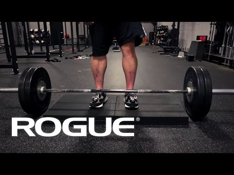 deficit - Mark Bell explains and demonstrates the deficit deadlift at Rogue HQ. West Side Power Bar http://www.roguefitness.com/westside-power-bar.php.
