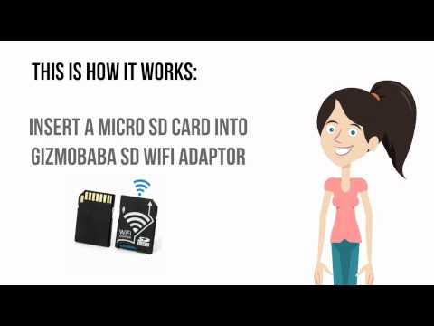 GB143-Gizmobaba Wi-Fi SD Card Adapter Gadget. Convert ANY CAMERA Into Wi-Fi!