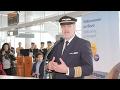 Download Video Martin Hoell: Begrüßung der Passagiere des Lufthansa A350-900 Erstfluges
