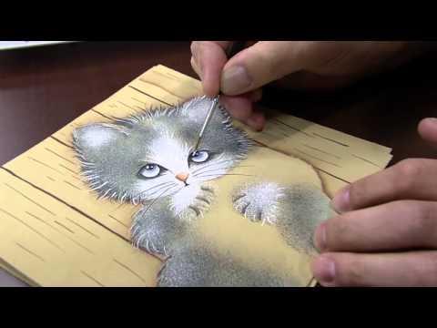 poletti - Mulher.com 02/07/2014 - Pintura Gato Tecnica Pelucia por Luiz Poletti - Parte 2.