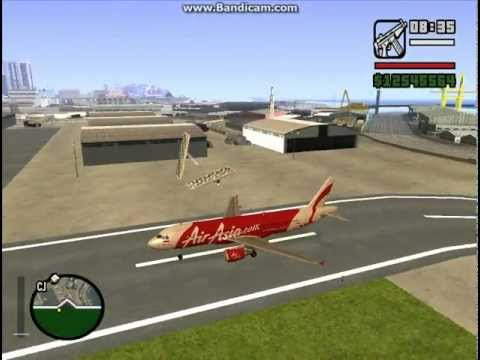 GTA SA - Airbus A320 (Family Line) with Indonesia AirAsia livery