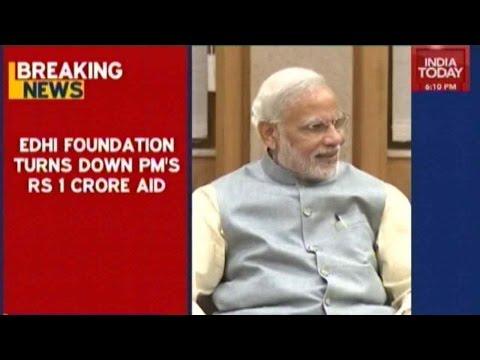 Edhi Foundation Declines Modi's Rs 1 Crore Aid (видео)