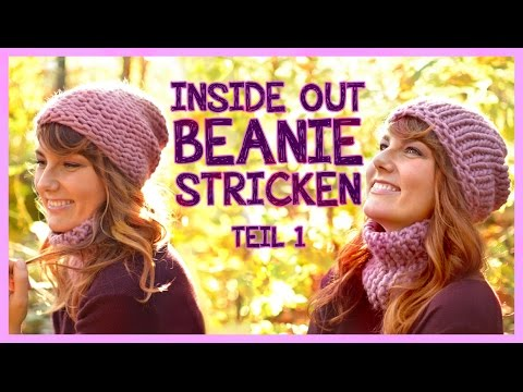 Inside Out Beanie stricken TEIL 1 *We Are Knitters Set*
