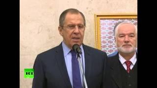 Сергей Лавров открыл новый комплекс посольства РФ в Ашхабаде