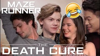 Video Maze Runner Cast: Death Cure Bloopers | try not to laugh.. MP3, 3GP, MP4, WEBM, AVI, FLV Juni 2018