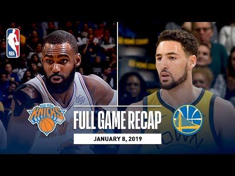 Video: Full Game Recap: Knicks vs Warriors   Klay Gets Hot From Deep