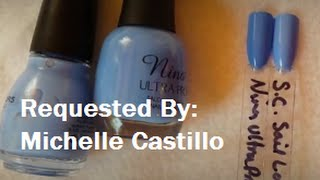 Thank you, Michelle, for another great request! XOXOXO Polishes Compared: Sinful Colors Sail La Vie Nina Ultra Pro Ocean View *Polishes I'm Wearing: Julep Ne...