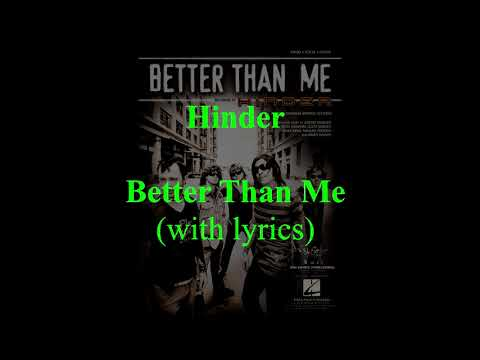 Better Than Me (radio edit)