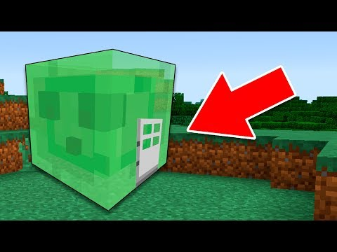 Minecraft | Como Vivir Dentro De Un SLIME Tutorial (Pocket Edition, Xbox, PC)