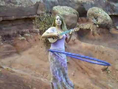 Flicker – by Elfchild, with ukulele and hula hoop