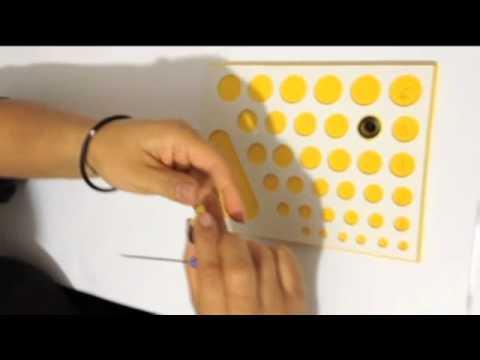 filigrana - Tutorial de la elaboración de una mariposa a base de la tecnica quilling (filigrana en papel) www.ysha.com.mx.