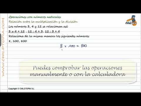 Vídeos Educativos.,Vídeos:Relación multiplicar / dividir 5