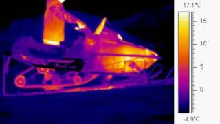 10. Infrared Imagery of 2006 Polaris 550 Super Sport Snowmobile